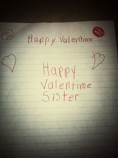 What my little sister made for me ♥ She's the best