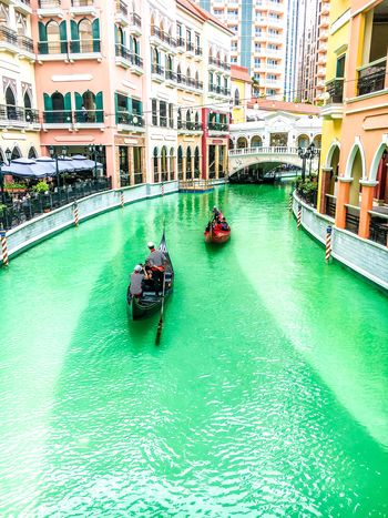 Venice Grand Canal Mall Eyeem Philippines Outdoors Gondola - Traditional Boat Architecture Canal Building Exterior Travel Destinations Bridge - Man Made Structure