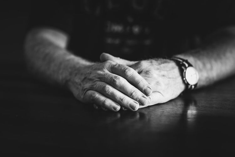 Hands Adult At Rest Black And White Blackandwhite Finger Fingers Hands Human Body Part Human Hand Indoors  Real People Shallow Depth Of Field Shallow DOF Still Life Watch