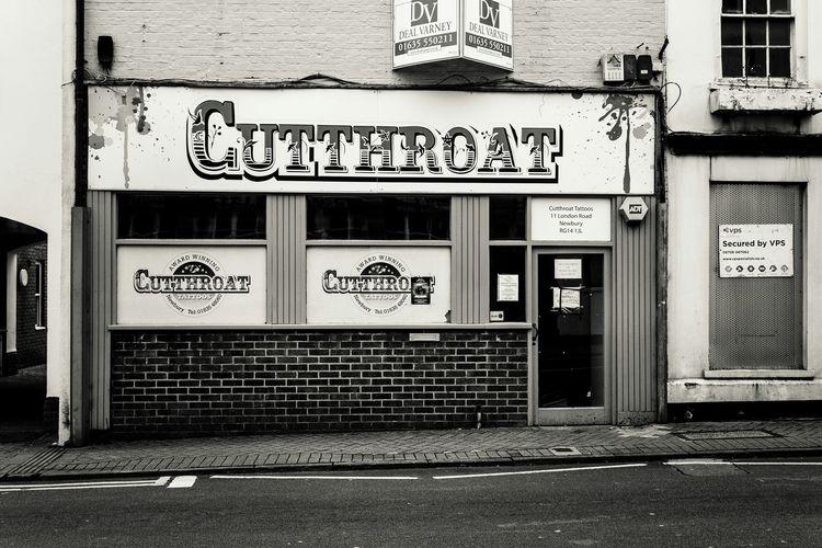 Tatoo parlour, Newbury. Blackandwhite Black&white Streetphotography Streetphoto_bw Shop Tatoos
