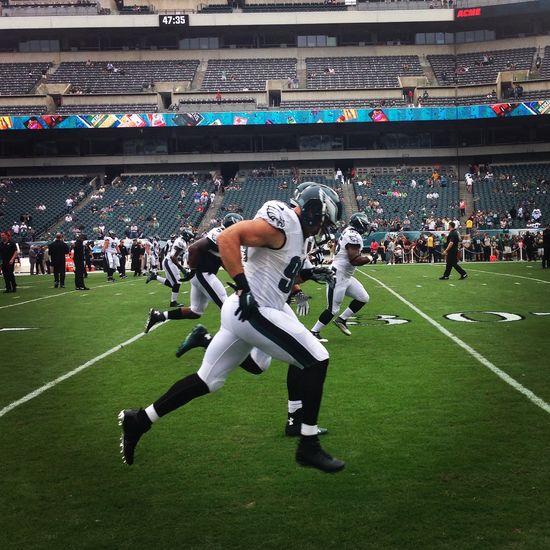 Connor Barwin Philadelphia Eagles NFL On The Field Warm Up Football Pennsylvania