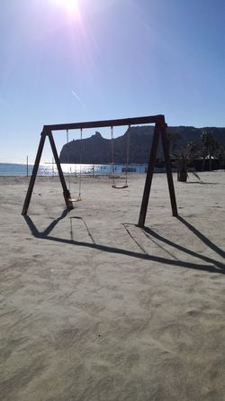 Poetto beach Sardinia Sardegna Italy  Today :) Sun Light Winter Sand Playground Net - Sports Equipment Beach Childhood Soccer Jungle Gym Water Outdoor Play Equipment Outdoors Nature Sky Day Sea No People Sunlight Tranquility Scenics Clear Sky Beauty In Nature