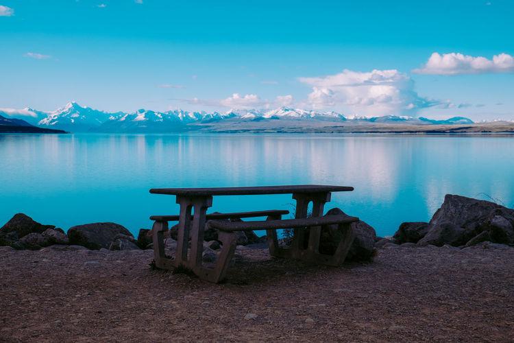 Lake pukaki in new zealand