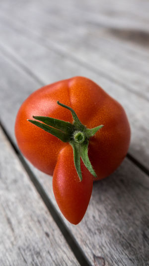 Close-up of tomato on table