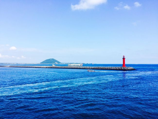 Red. Sea Blue Beauty In Nature No People Day Outdoors Architecture Lighthouse