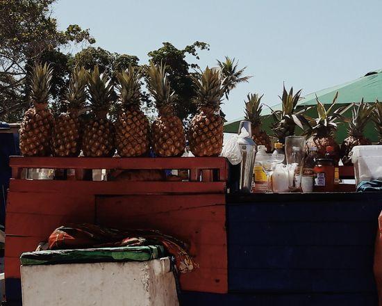 Piña colada Outdoors Food Sky Business Finance And Industry Cartagena Color Blockıng Picoftheday Shapes Close-up Palm Tree Contrast Warm Colors Tropical Piñacolada Piña Colada Fruits Beach
