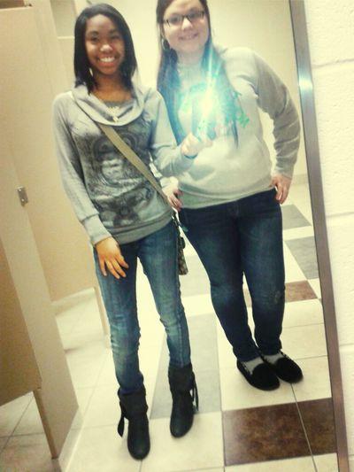 Mee & My Whiteeee Girl Lol