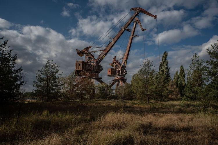 Cranes on pripyat docks