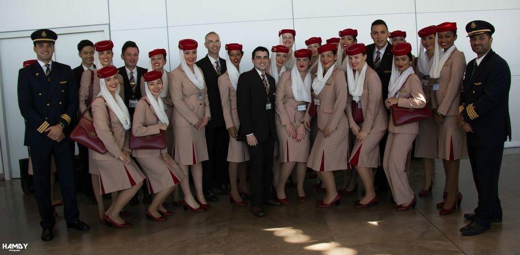 Myemiratesairline Crew Traveling Emirates EK  Madrid Inauguralflight A380 The Traveler - 2015 EyeEm Awards Eye Em Around The World