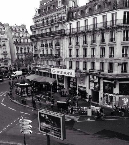Living Bold Paris Montparnasse Street Cinema France Vintage Gaumont Place Crossroad