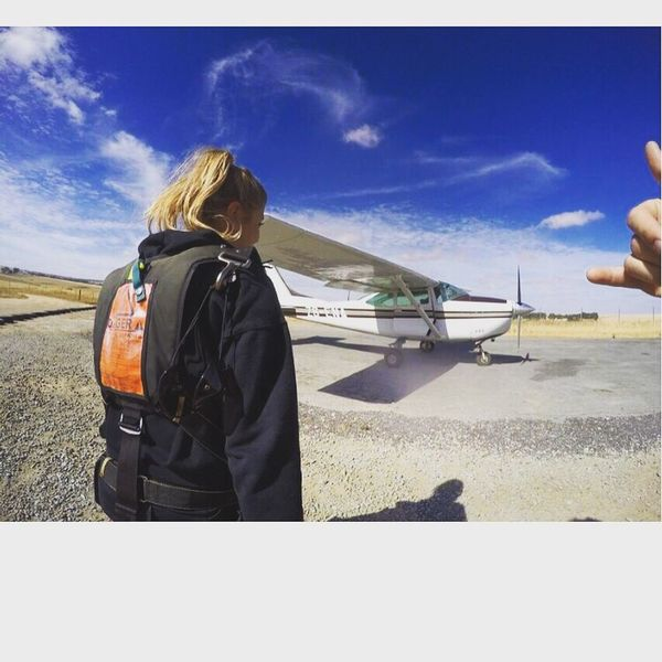 Skydiving in South Africa ! Lifestyles Travel Sky Happiness South Africa Skydiving Rear View