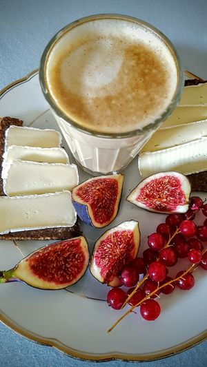 Food And Drink Fruit Ready-to-eat Breakfast Breakfast In Bed Coffee GalaoFood And Drink Sunday Morning Pamper Time Pamperedmyself Healthy Fig Camembert