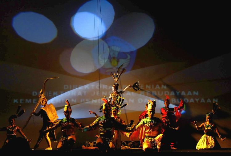 Kalimantan dance Night Moon Arts Culture And Entertainment People Outdoors Sky Adult Skill  Lifestyles Traditional Dance Art Indonesia
