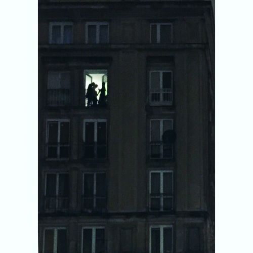 Building Exterior Window Architecture Real People Building Warsaw Poland Party