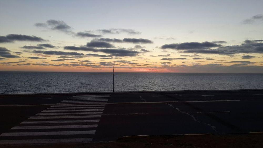 Aktau Sunset Kaspian Sea
