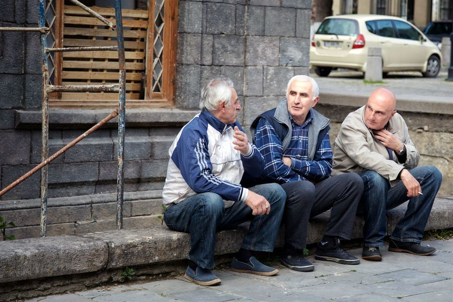 Georgia people Adult Adults Only Day Friendship Full Length Georgia Men Only Men Outdoors People Senior Adult Senior Men Sitting Street Photography Streetphotography Togetherness