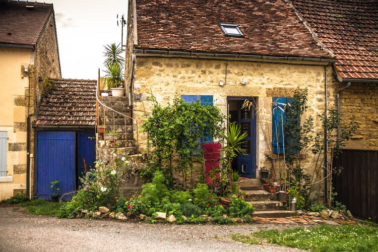 Architecture Building Exterior Built Structure Burgundy Country Life Day France Growth House No People Outdoors Plant Rural Sky Stone House Summer Village
