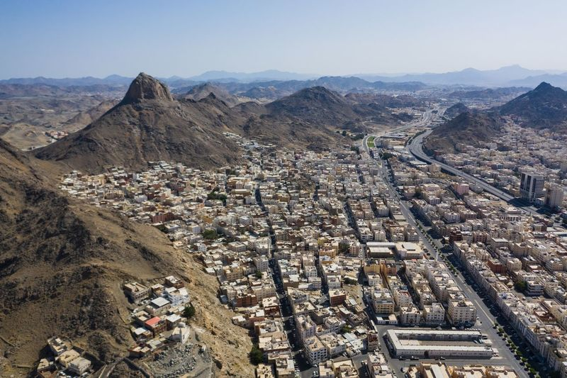 Jabal An Nur Mavic 2 Pro DJI Mavic Pro Arabian Saudi Arabia Mecca Mecca Al-mukarramah EyeEm Selects Mountain Landscape Scenics - Nature High Angle View Day Mountain Range Environment Sky Nature Architecture No People Tranquil Scene Building Exterior Outdoors Beauty In Nature Tranquility Land Built Structure Sunlight