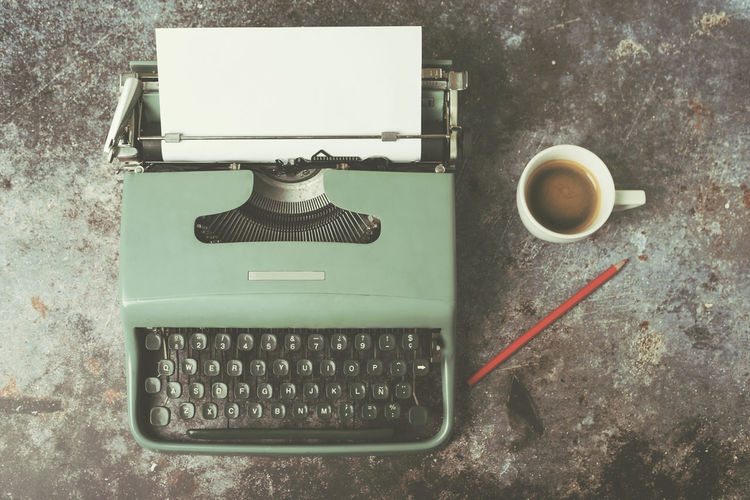 Coffee Cup Coffee Coffee - Drink Typewriter Old Typewriter Coffee Writing Writer Novel Journalism Document Concept Paper Office Nostalgia Write Title Vintage Old Message Text Secretary Decaffeinated Expresso Coffe Pencil Imagination Imagination And Creative Creativity Creative Communication Working Work Retro Retro Styled Story Journalist Journalist At Work Letter Letters