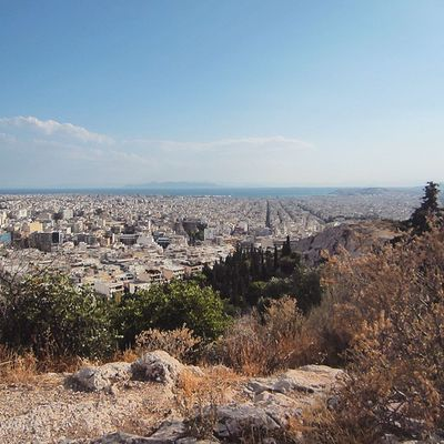 From Athens to the horizon. Athens, Greece June 2014
