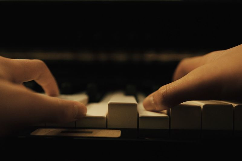 Piano Moments Nice Atmosphere Atmosphere Child Arts Culture And Entertainment Skill  Concentration Human Body Part Human Hand People Performance Close-up Musical Instrument Practicing Learning Piano Key Music Piano Playing Education Analog EyeEm Best Shots EyeEmNewHere Focus Eye4photography