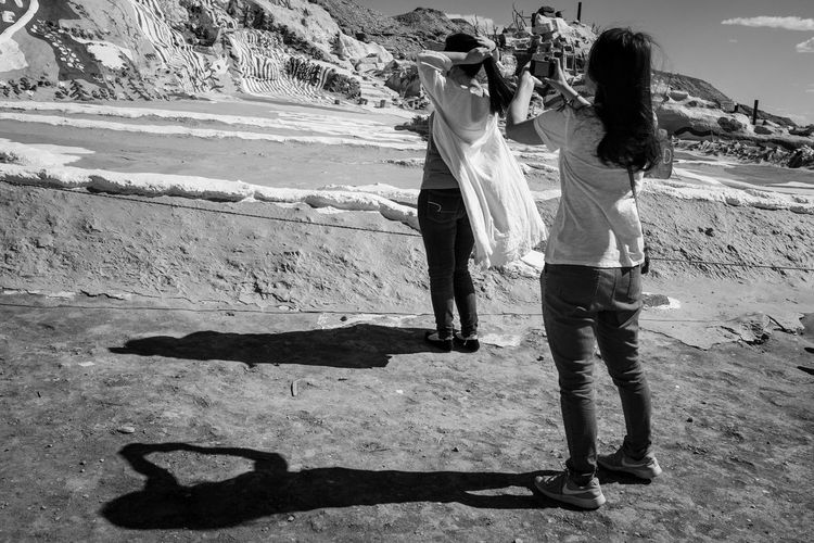 Salvation Mountain Photo444 Black And White Blackandwhite Streetphotography Fujifilm Documentary Beauty Fujix100f Fujifilm_xseries Real People Lifestyles Land Leisure Activity Women Full Length Beach