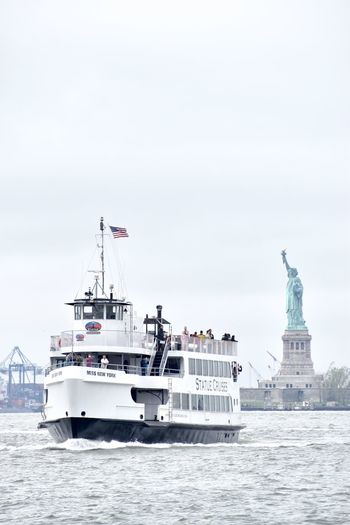 Nautical Vessel Sea Transportation Travel Destinations Mode Of Transport Day Harbor Outdoors Water Sky Architecture No People Nature Statue Of Liberty Boat Ferry Boat Ride River Statue Cruises