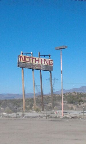 NOthIng Text Day Blue Outdoors Landscape Clear Sky Road No People Nature Sky Mountain Desert