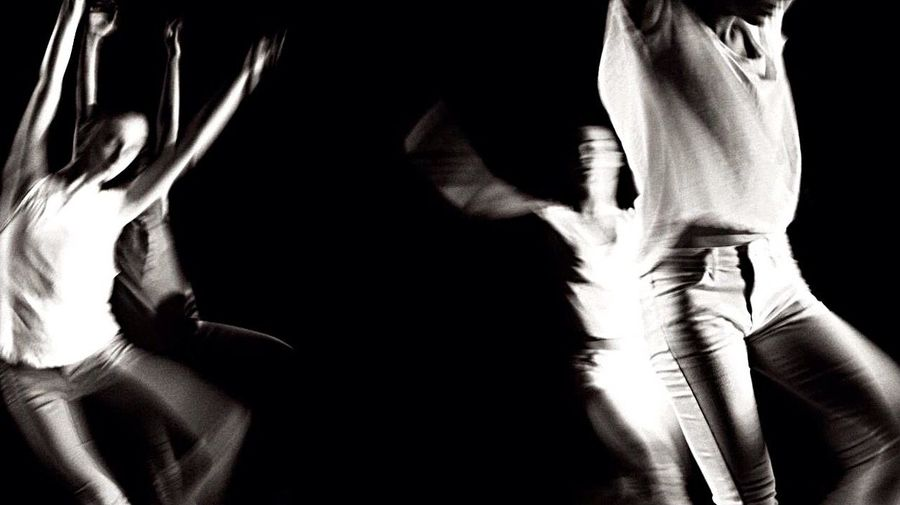 The Dance French Academie Of Ballet Abstract Dancers Dressed In White Blackandwhite Canon