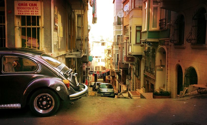 The Street Photographer - 2016 EyeEm Awards Istanbul Turkey Old City Mobile Photography Travel Photography Old Buildings Old Cars Vintage Cars Sunset