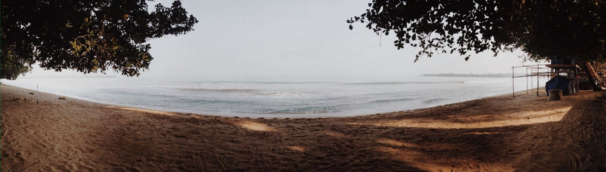 My view.. Beach Sand Wave Panorama