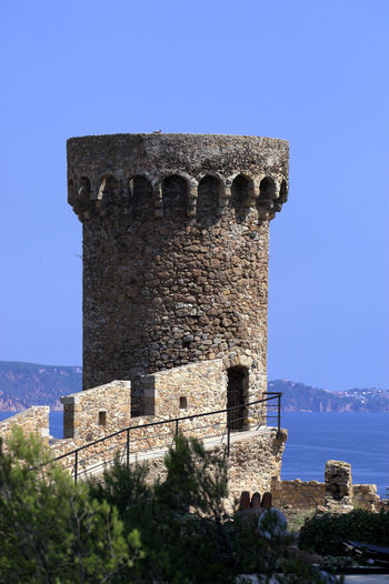 Castle Tower Against Clear Sky At Tossa De Mar