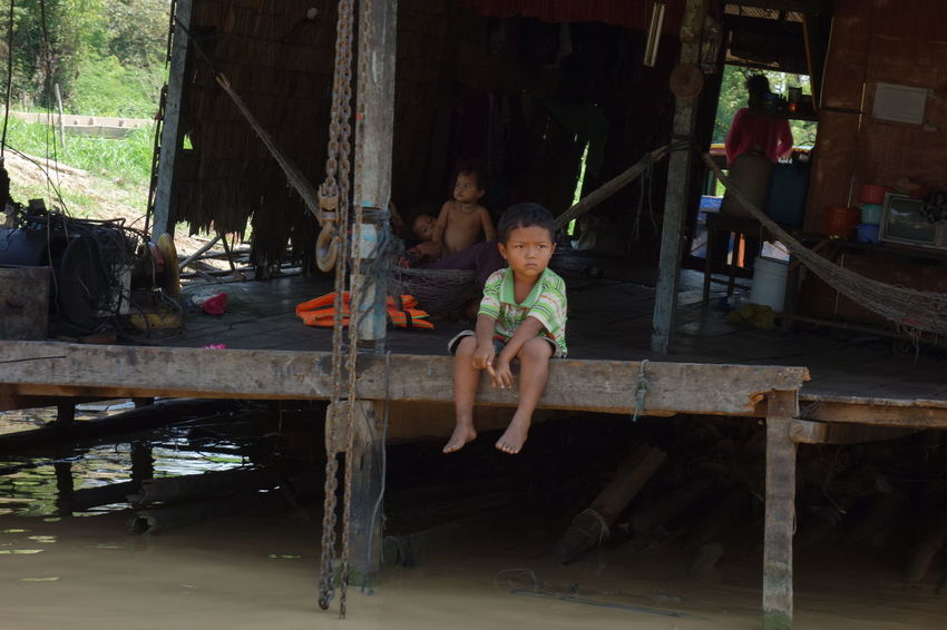 Asian Culture Cambodia Cambodian Child Fisherman Stilt House Village Village Life ASIA Village Children Outdoor Outdoor Photography