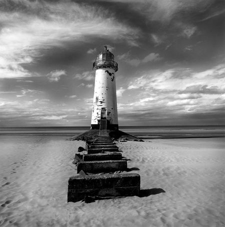 Blackandwhite Talacre Beach Talacre Talacre Lighthouse Water Cloud - Sky Sky Tower Built Structure Direction Lighthouse Guidance Architecture Sea Nature Security Protection Building Exterior Safety No People Building Scenics - Nature Horizon Over Water Outdoors