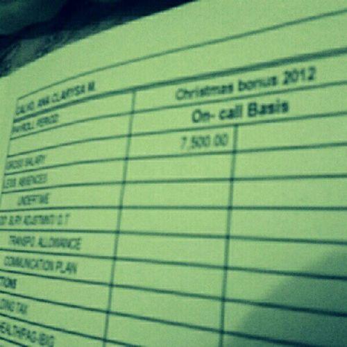 YAY Salaryy. Shk wala namang ginagawa. Hahaha! Thanks Mom. :)) Salary ChristmasBonusLOL