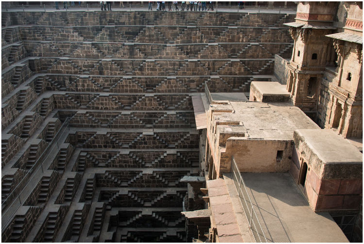Step Well at Abhaneri, India Abhaneri India Architecture Building Exterior Built Structure Geometric Monument No People Outdoor Photography Outdoors Stairs Step Well Steps Steps And Staircases Tourism India