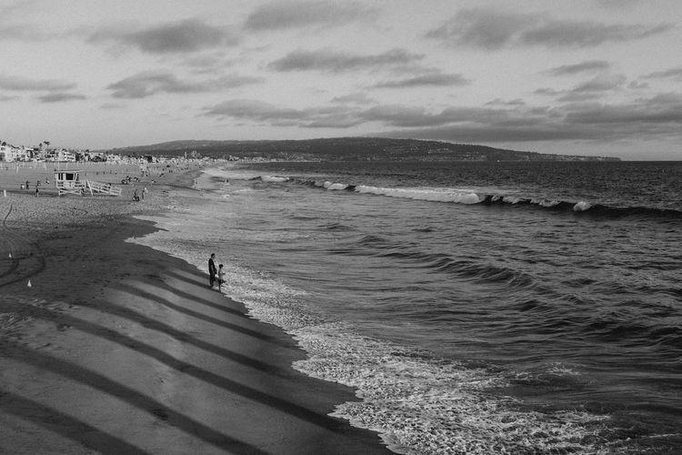 Adult Beach Beauty In Nature Blackandwhite Cloud - Sky Coastline Day Horizon Over Water Large Group Of People Leisure Activity Men Nature Outdoors People Real People Sand Scenics Sea Shore Sky Tranquil Scene Tranquility Vacations Water Wave