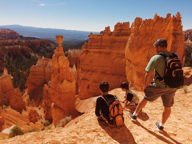 Exploring Beauty In Nature Bryce Canyon Outdoors Hiking Travel Destinations FamilyTime