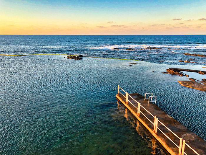 Punta del Hidalgo, Tenerife Norte, on a winter afternoon Sea Water Sky Horizon Over Water Tranquil Scene Nature Sunset