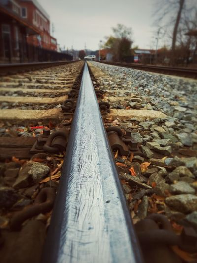Rail - Transportation Train Train Tracks Industrial Rocks Metal
