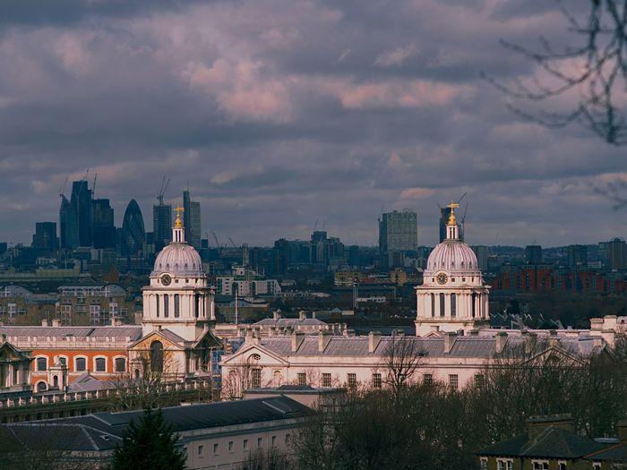 """Lit domes"" Heritage Greenwich ChristopherWren Classical Architecture EyeEm Selects Sky Architecture Dome"