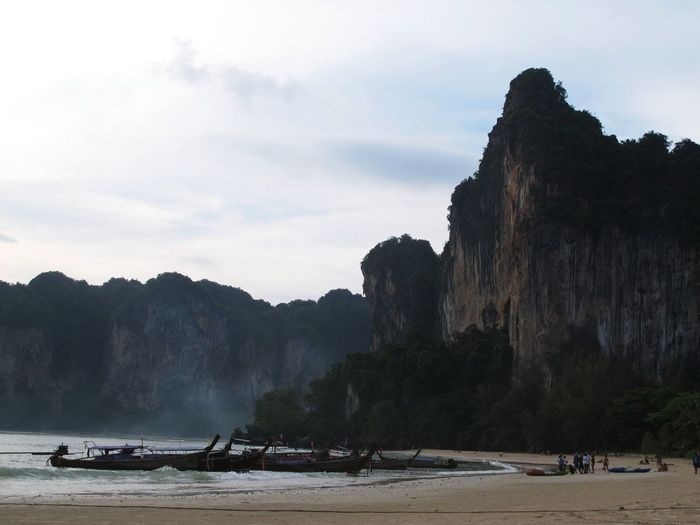 West Railay Beach in Krabi, Thailand Beach Beauty In Nature Krabi Krabi Thailand Mountain Nature Railey Beach Travel First Eyeem Photo