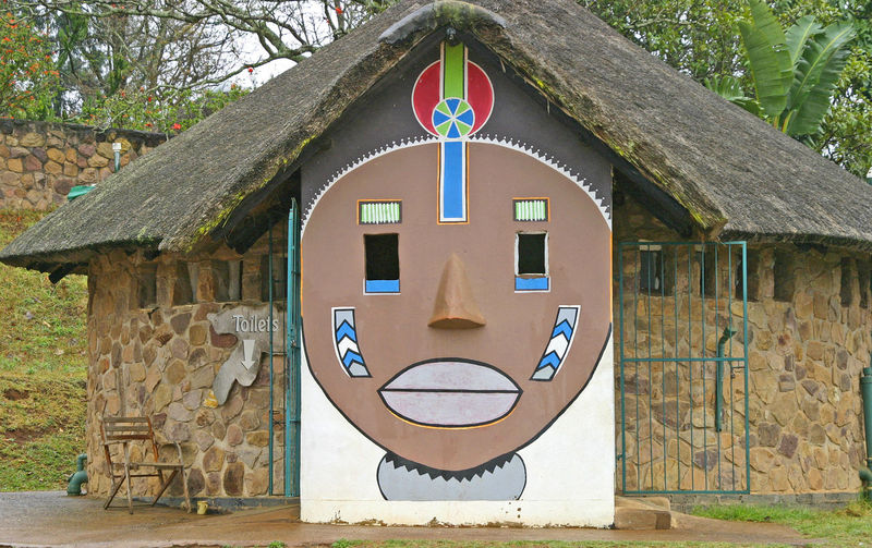 Zulu village - Land of a Thousand Hills, near Durban, South Africa Durban South Africa Land Of A Thousand Hills Toilet Building Zulu Face Architecture Building Exterior Built Structure Circle Day No People Outdoors Straw Hut Tree Zulu Nation Funny Face The Week On EyeEm