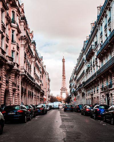 Paris Paris Streets Street Perspective Urban Eiffel Tower Tour Eiffel