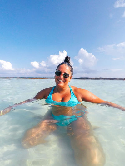 Beach Life Happiness Holiday Mexico Tropical Paradise Beach Beautiful Woman Bikini Blue Leisure Activity Lifestyles Nature Ocean Ocean Beach One Person Outdoors Paradise Sky Summer Sun Tropical Vacation Water Young Adult Young Women