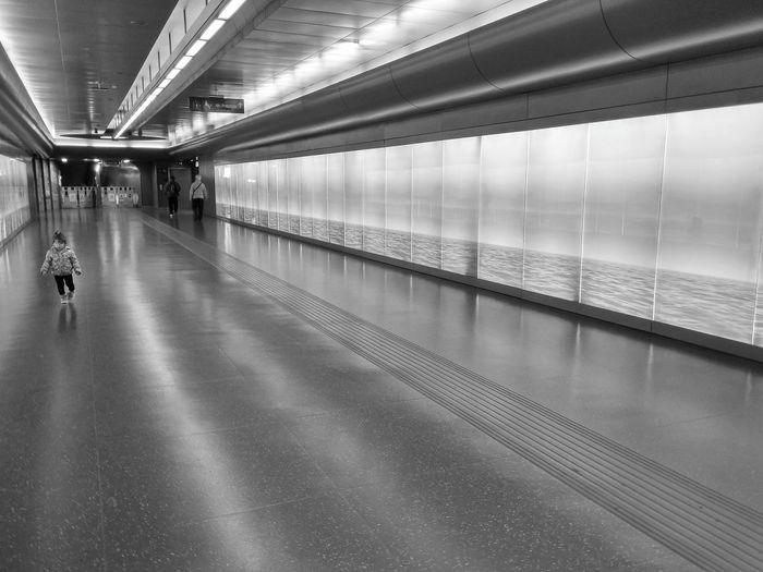 Unexpected visitor Station Metro Explore MadeinItaly B&w Blackandwhite Lines Perspective Prospettive Urban Blackandwhite Photography B&w Street Photography City Toledo Napoli Naples Italia Italian Italy