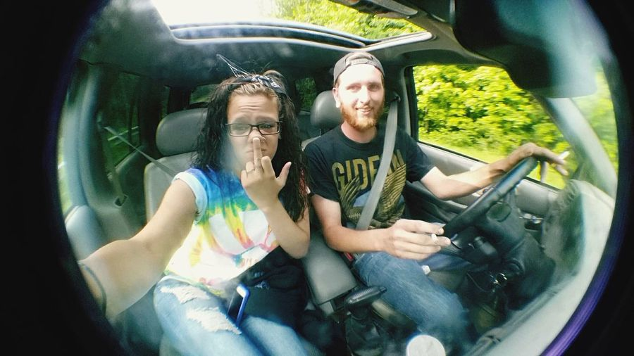 Fisheye Lens Fisher Lens Middle Finger Adventure Cruising Waterfalls Car Ride  Best Friend Stay High
