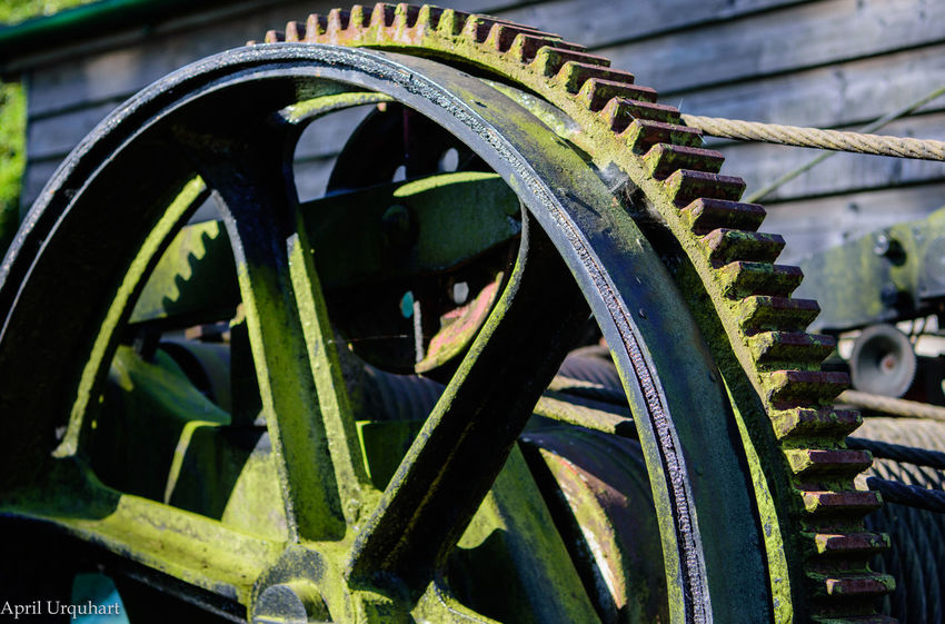 Taken at Holt Station where steam trains run regularly. Green Rust Steam Railway Station Wheel Cog Cogs Cogs And Parts Spoke Steam Railway Transportation Wheel