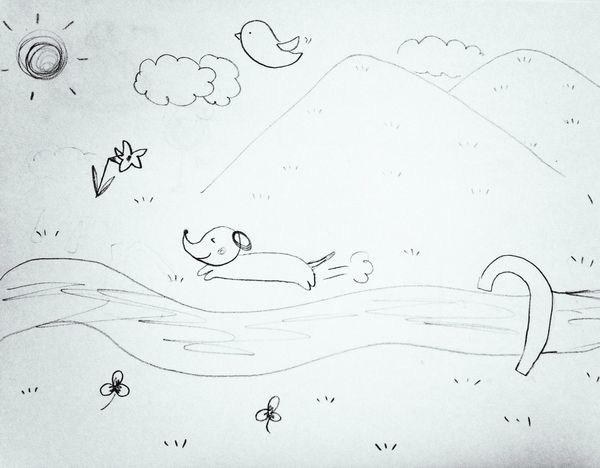 Childhood Handdrawn by 10 yr old girl Child Drawing Baby Drawing Black And White Picture Drawing Children Original Artwork