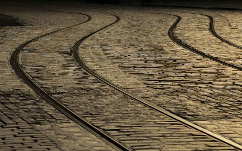 Tramway Tracks In Old Town